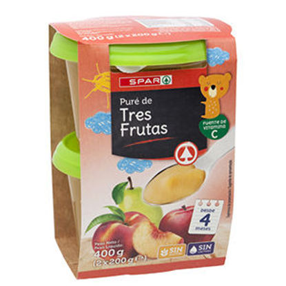 Imagem de Puré Fruta SPAR 3 Frutas 2x200gr