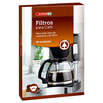 Imagem de Filtro Café SPAR N4 40un