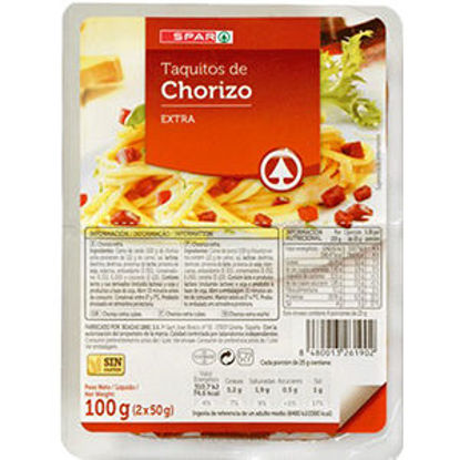 Picture of Chouriço SPAR Cubos Pack 2x50gr