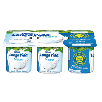 Picture of Iog LONGA VIDA Magro Natural 6x120gr