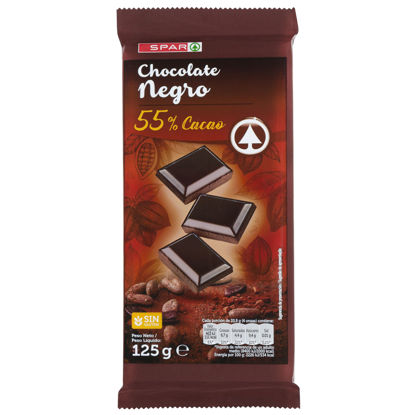 Picture of Chocolate SPAR Extraf Neg 55% Cac 125gr