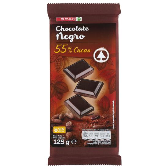 Imagem de Chocolate SPAR Extraf Neg 55% Cac 125gr