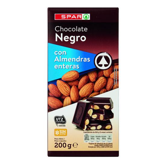 Imagem de Chocolate SPAR Negro C/ Amêndoa 200gr
