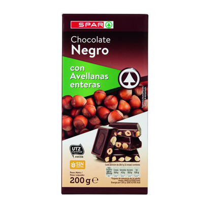 Picture of Chocolate SPAR Negro C/ Avelã 200gr
