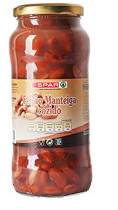 Picture of Feijão SPAR Manteiga Cozido Frasco 540gr