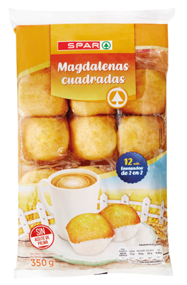 Picture of Madalenas SPAR Quadradas 12un 350gr
