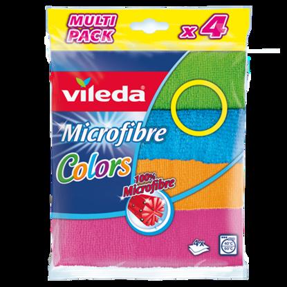 Imagem de Pano VILEDA Microfibras Colors 4un