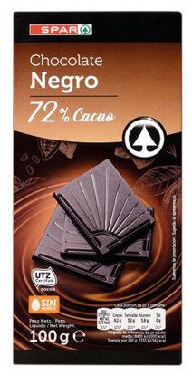 Picture of Choc SPAR Negro 72% Cacau 100gr