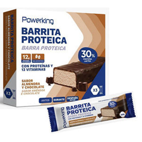 Picture of Barra Prot POWERKING Ame Choc 3x40gr