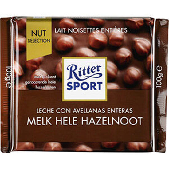 Picture of Choc RITTER SPORT Leite Avelã 100gr