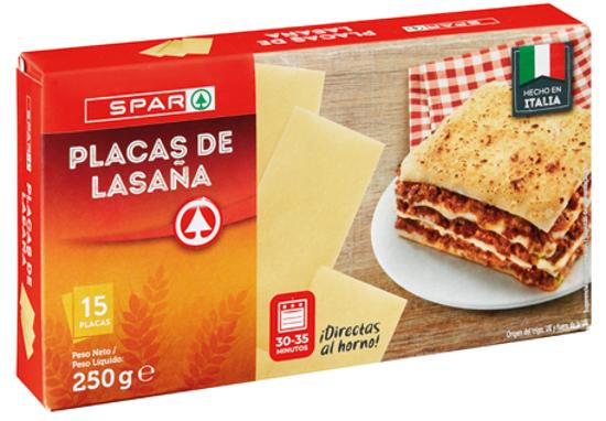 Picture of Placas P/Lasanha SPAR 250gr