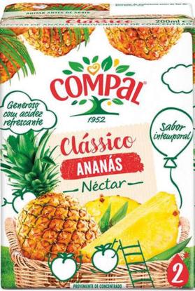 Imagem de Néctar COMPAL Class Ananás Tetra 200ml