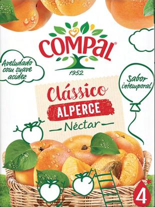 Imagem de Néctar COMPAL Class Alperce Tetra 200ml